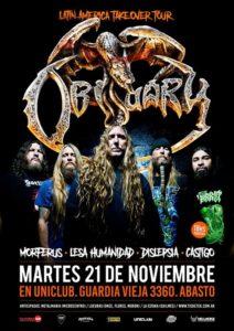 Obituary en Argentina! @ Uniclub | Buenos Aires | Argentina