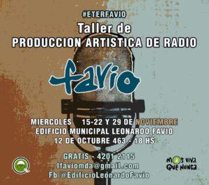 Convocatoria Taller de producción artística de radio #ETERFAVIO @ Edificio Municipal Leonardo Favio | Dock Sud | Buenos Aires | Argentina