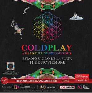Coldplay en Argentina el 14 y 15 de noviembre @ Estadio Único de La Plata | La Plata | Buenos Aires | Argentina