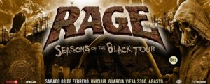 Rage la legendaria banda alemana se presenta en Argentina @ Uniclub | Buenos Aires | Argentina