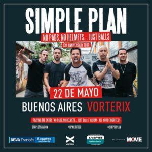 SIMPLE PLAN en Argentina! @ Teatro Vorterix | Buenos Aires | Argentina
