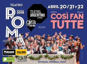 El Argentino de La Plata repone COSI FAN TUTTE en el Roma de Avellaneda @ Teatro Municipal Roma   Avellaneda   Buenos Aires   Argentina