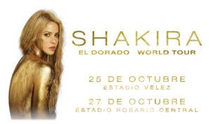 "SHAKIRA: GIRA ""EL DORADO WORLD TOUR"" EN ARGENTINA @ Estadio de Velez Sarsfield | Buenos Aires | Argentina"